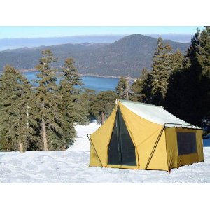 9' x 12' CANVAS STRAIGHT WALL BASE CAMP CABIN TENT